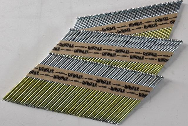 D-kop stripnagels 34° nagels Verzinkt Gegalvaniseerd.