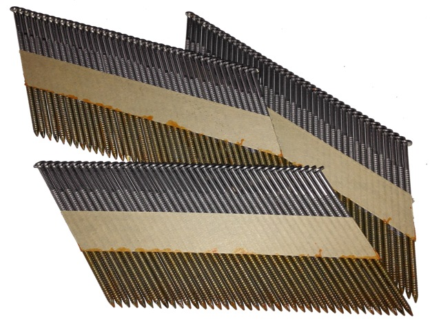 D-kop stripnagels 34° nagels Blank