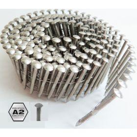 Rolnagels coilnagels 3,1 x 90 RVS ring vanaf 1200 stuks